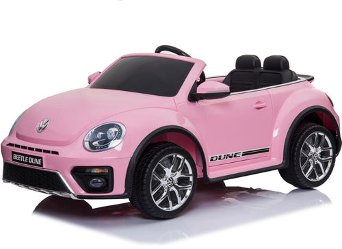 Licensed VW BEETLE - 12V Battery Ride On -  Kids Car - Pink