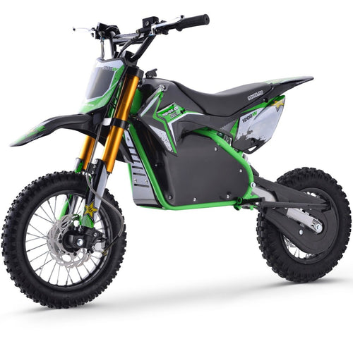 Renegade 1200E 48V 1200W Electric Dirt Bike - Green
