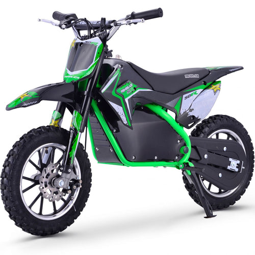 Renegade 50R - 500W 36V Electric Mini Dirt Bike - Green