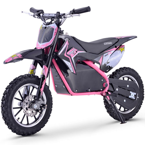 Renegade 50R - 500W 36V Electric Mini Dirt Bike - Pink