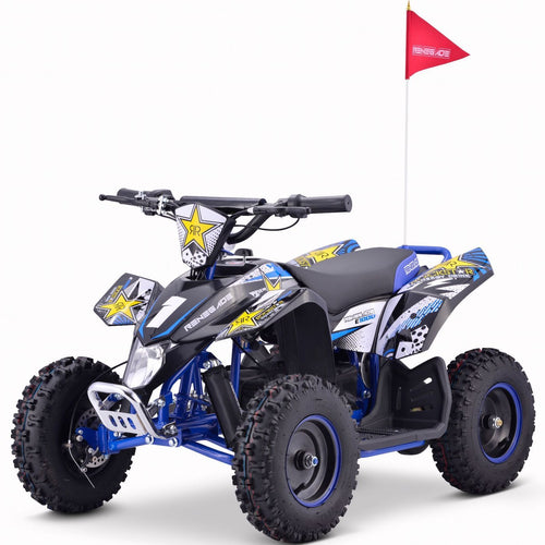 Renegade LT100E -  Electric Battery 1000w Quad Bike - Blue