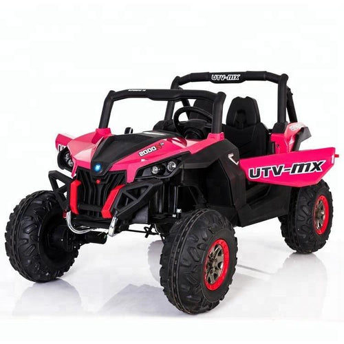 UTV MX 2000 24V Twin Seat Kids 4WD All Terrain Buggy - RED