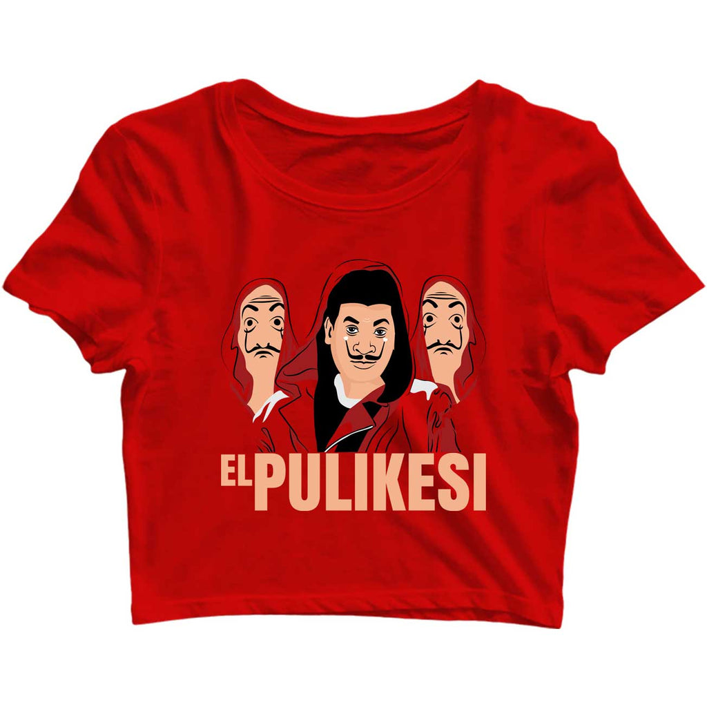 Pullikesi Version  Crop-Top