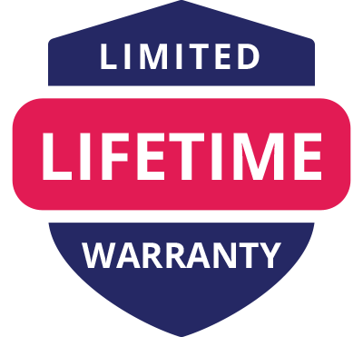 limited lifetime warranty badge for all Lubilicious toys and motorized sex toys