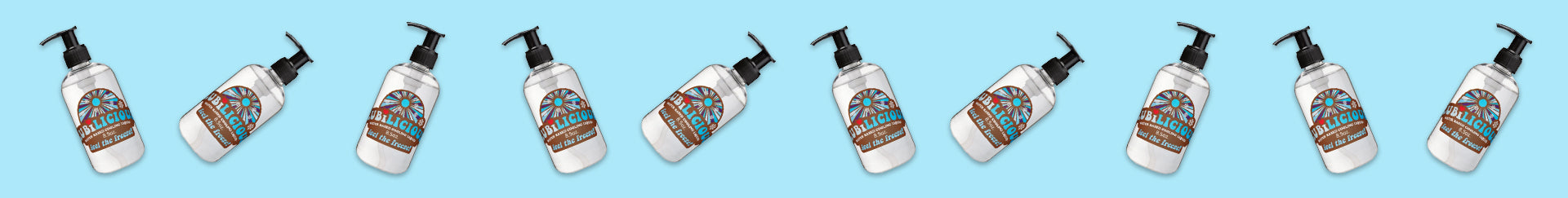 fun photo of falling lube Feel the Freeze cooling personal lubricant by Lubilicious
