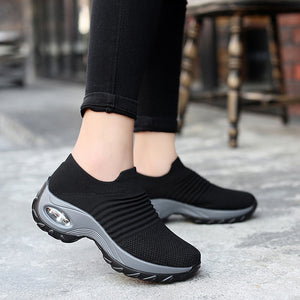 Women's Breathable Air Cushion Walking Shoes Sock Sneakers