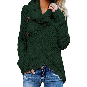 Autumn Winter Casual Daily Polyester Slightly stretchy Asymmetrical Pullover