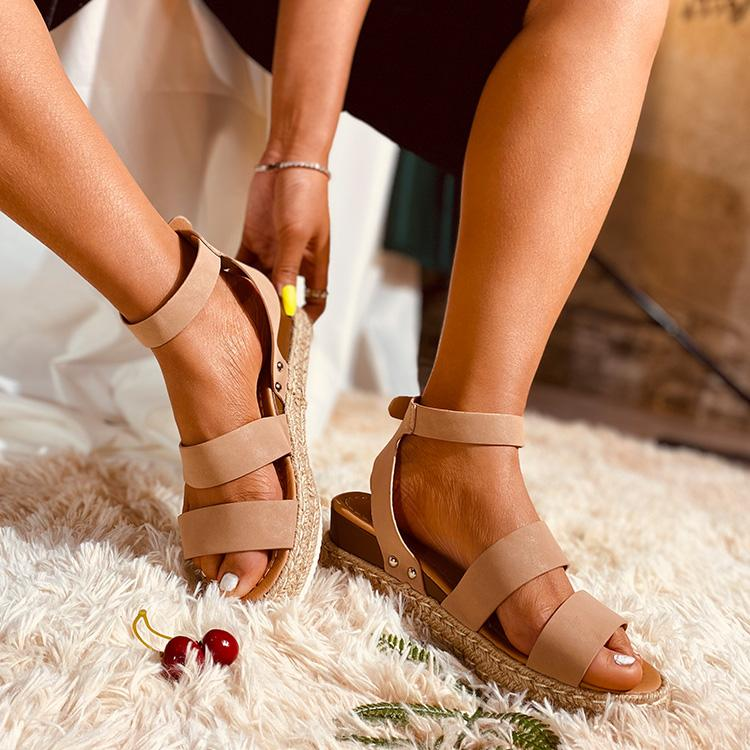 Ladies' Bohemian Straw Woven Sole Sandals