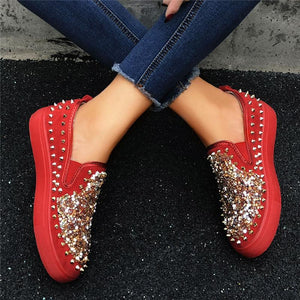 ◤New Arrival◢Women's Fashion Studded Sequin Casual Shoes