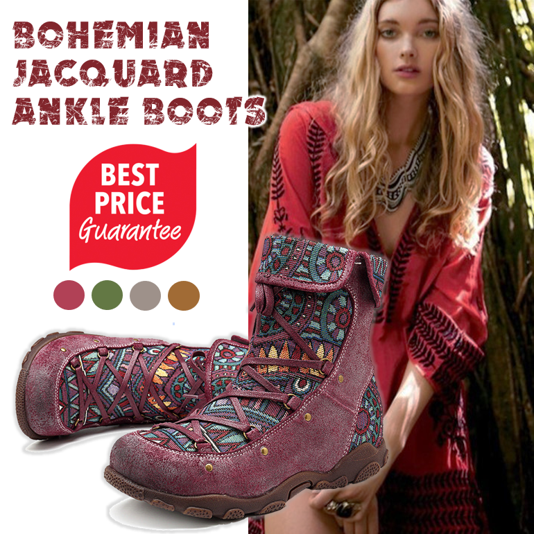 ◤New Arrival◢Women's Bohemian Round Toe Flat Boots