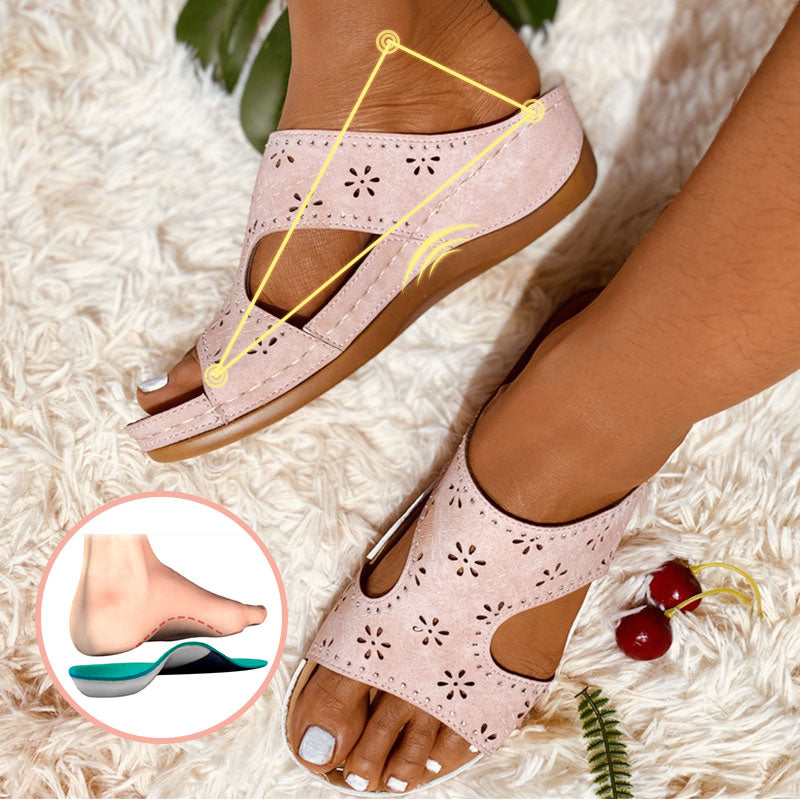 summer College PU slippers Flats Round head Daily shoes