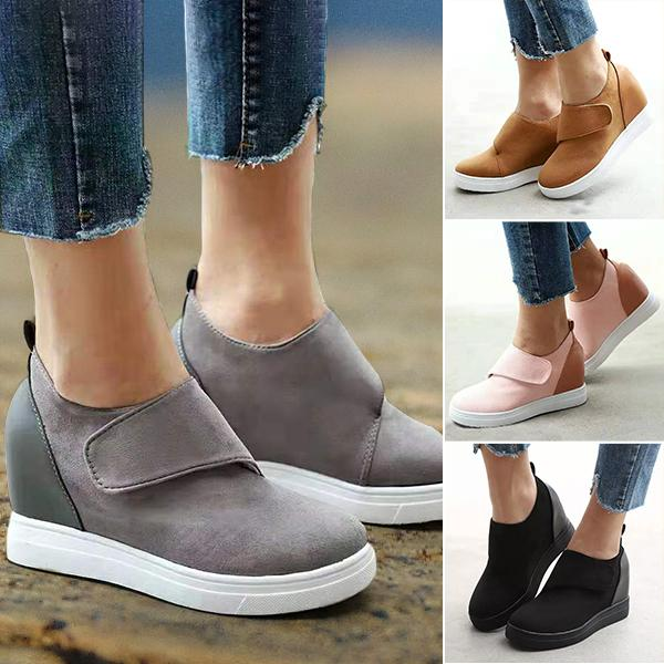 Women's Colorblock Round Toe Casual Shoes
