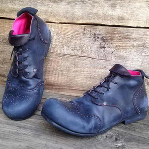 Men's Fashion Laced Leather Boots