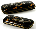 Antique French c.1850s Tortoise Shell Cigar or Spectacles Case, Etui - Tortoiseshell & Pique