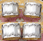 PAIR: Antique French PUIFORCAT Sterling Silver Napkin Rings, Louis XV or Rococo Pattern