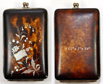Fine Antique French Napoleon III (Victorian era) Tortoise Shell Cigar or Cheroot Case, Pique, Excellent - Purse?
