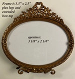 Antique French Miniature or Carte de Visite Easel Frame, Horizontal