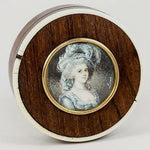 Antique French Snuff Box, Apres Vigee-LeBrun's M. Antoinette Portrait Miniature