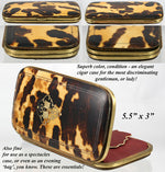 Antique French Tortoise Shell Cigar or Spectacles Case, Silk Lined - Mid- 1800s Tortoiseshell, Napoleon III, mid-Victorian Era