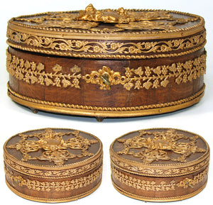 Antique French Chocolate Box, Confectioner's or Chocolatier's Casket, Empire Style
