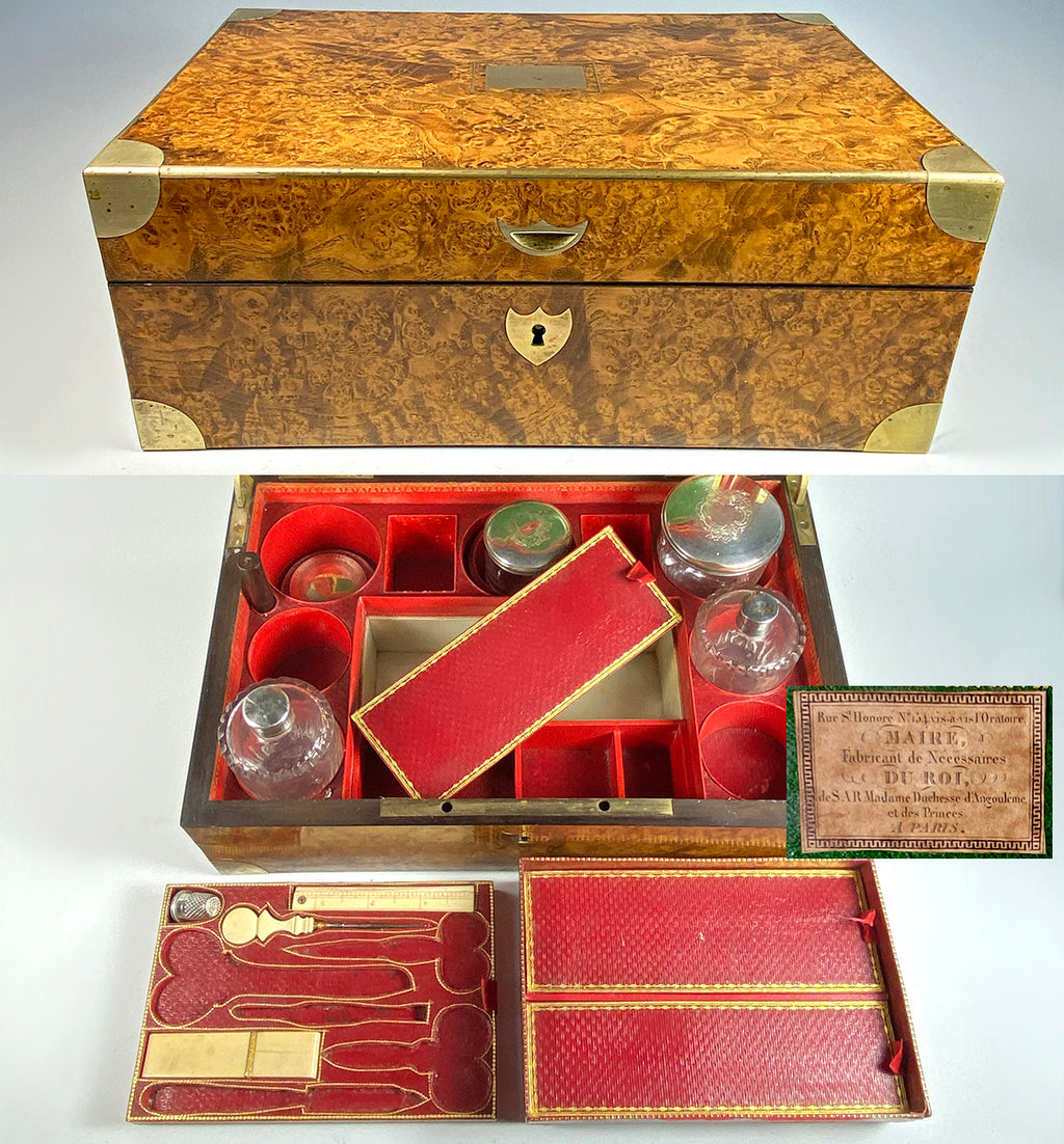 RARE find! Antique French Trousse de Voyage of Daughter of Louis XVI and Marie-Antoinette, Duchesse d'Angoulême - Vanity Case