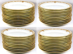 Set of 11 1908 Marked KPM Raised Gold Dinner Plates - Each marked, Excellent