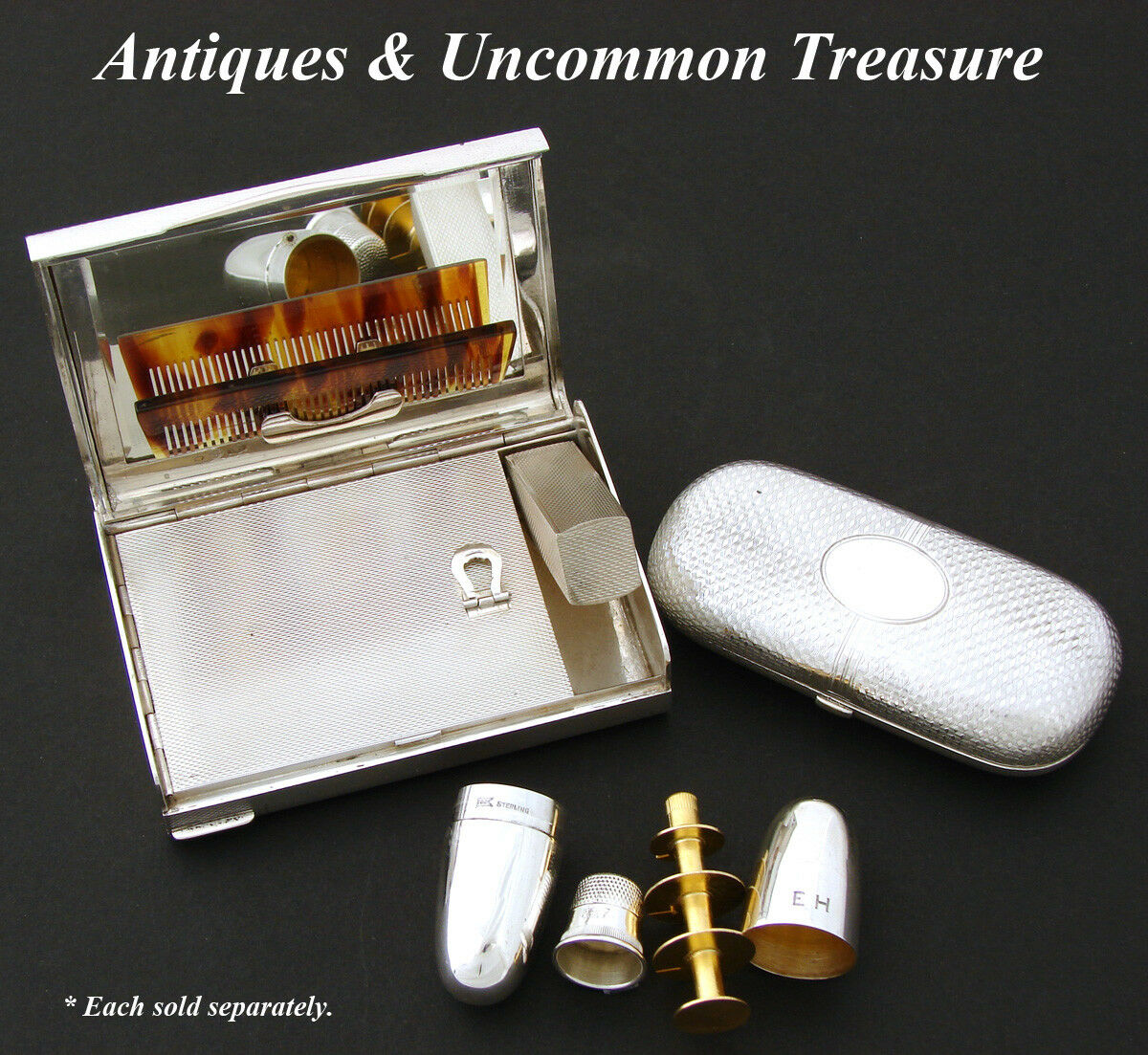 Antique Russian Hallmarked .875 (nearly sterling) Silver Cigarette Cheroot Case