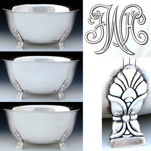 "Vintage Tiffany & Co. Sterling Silver 8.5"" Bowl, Art Deco or Mid Century Modern"
