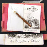"Elegant Antique French Napoleon III Era Carnet Bal, ""Souvenir"" Notebook"