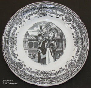 "Antique French Cabinet Plate Pair, Souvenirs of ""Exposition Universelle 1878"""