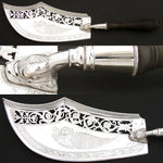"Rare Antique 1798-1809 French Sterling Silver 12.5"" Serving Implement, Figural"