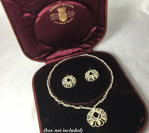 Antique Georgian to Victorian 3-Strand Seed Pearl Parure, Necklace, Earrings