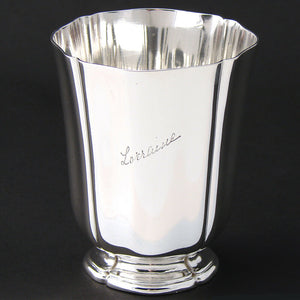 "Elegant Antique French Sterling Silver Wine, Mint Julep Cup, Tumbler ""Lorraine"""
