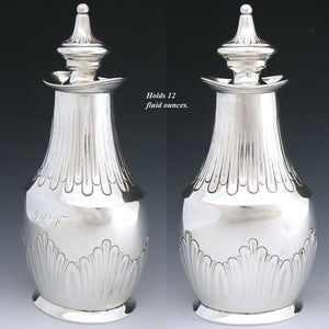"Antique Tiffany & Co. Sterling Silver 7.5"" Tea Caddy or Decanter, c. 1873-1891"