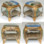 "Antique French Eglomise Paris Souvenir Casket, Box: ""Kairo"", 1889 World Expo"