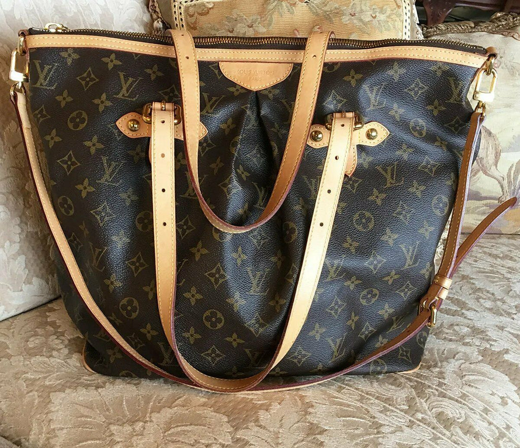 Vint LOUIS VUITTON Palermo GM Monogram Tote Shoulder Bag, Luggage, 2way, SD2008