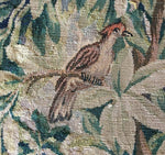 18th c. French Aubusson Chair Back Panels, Birds , Fragment for Pillows, c.1700s