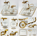 Antique DAUM NANCY French Liqueur Decanter Set, Absinthe Service or Bonne Nuit