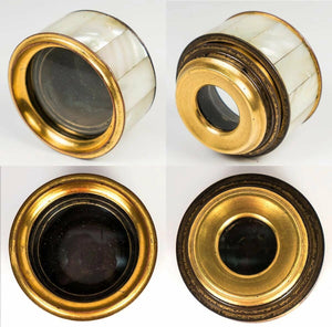 Antique French Napoleon III Era Gilt Bronze & Mother of Pearl 4-Draw Monocular