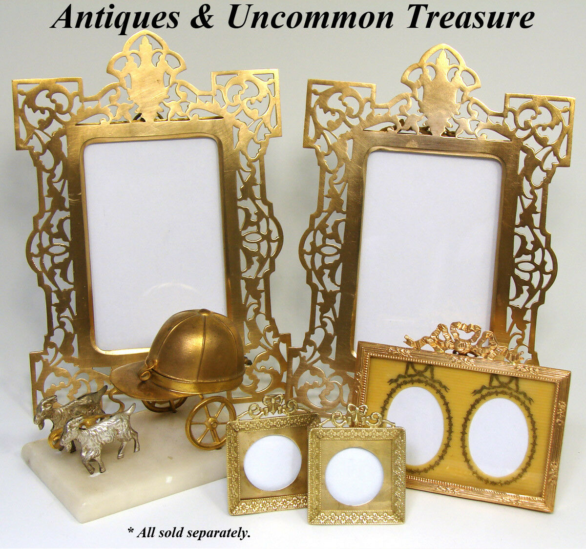PAIR of Antique French Napoleon III Carte d'Visite Sized Picture Frames