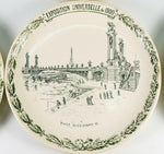 RARE Set of 9 Antique French Plates Made for the 1900 Paris Exposition
