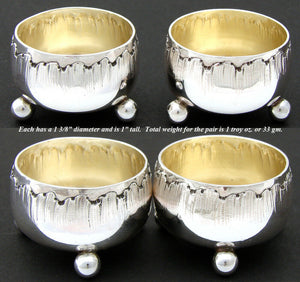 PAIR of Antique French CARDEILHAC Sterling Silver Open Salts, Louis XVI Rococo