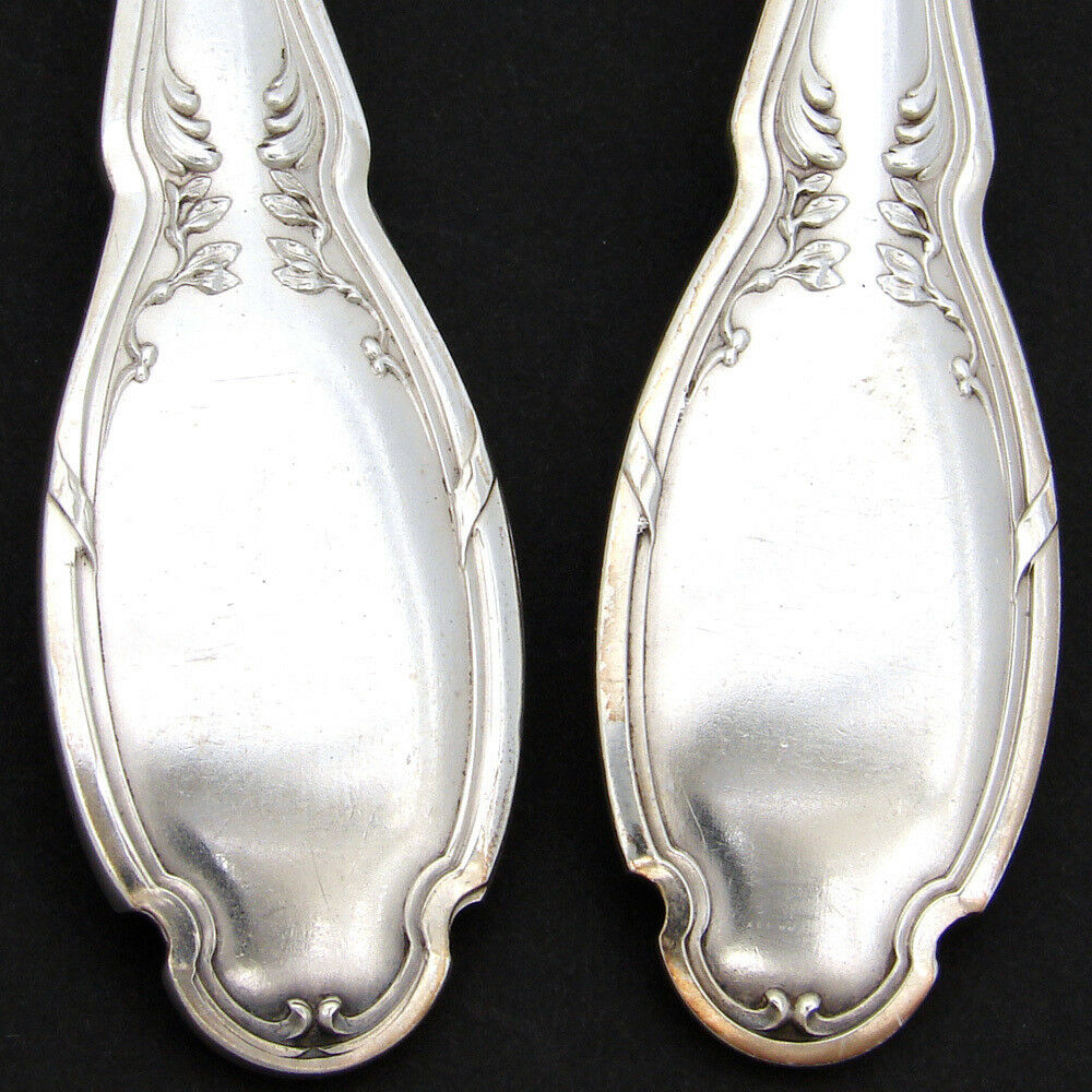Antique French Sterling Silver & Vermeil 2pc Ice Cream or Dessert Serving Set