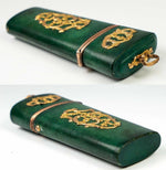 Antique c.1700s Shagreen Nécessaire, 18k Gold Mounts, Gentleman's Vanity Case