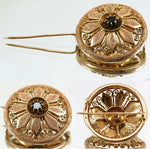 Beauty! Antique Victorian Era 14K - 15K Gold & Garnet Brooch, Filigree