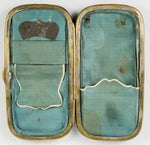 Antique Victorian Papier Mache Cigar Case, Mother of Pearl Inlay, Orig Interior