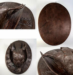 Antique 19th C. Hand Carved Black Forest Game Bird, Plaque, Fruits of the Hunt