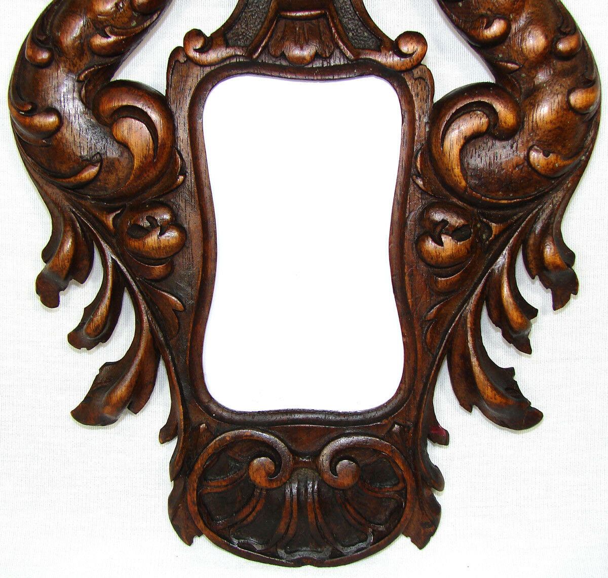 "Fab Antique Victorian Carved Carte de Visite Size 9"" Picture Frame, Bird Figures"