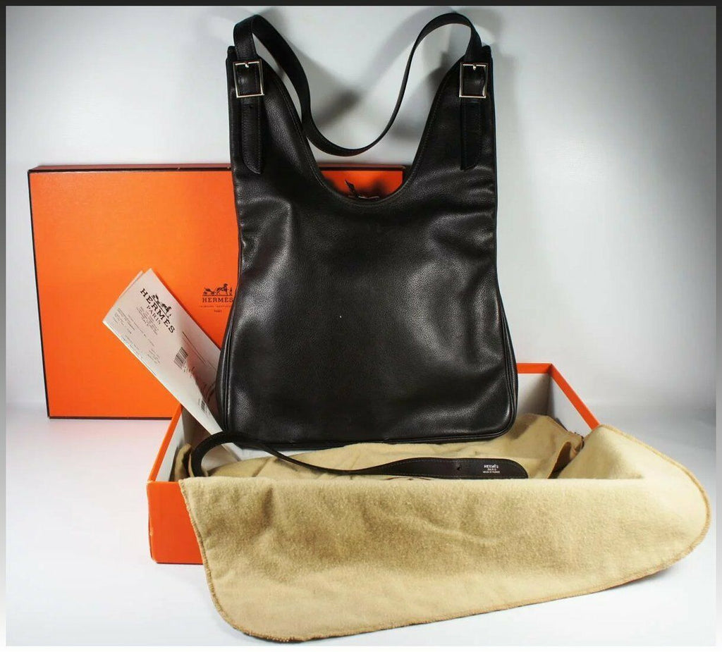Hermes Massai PM Handbag, Purse, Bag, Dark Brown, Orig Box, Rcpt: $2975, Used Tw