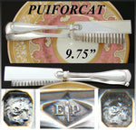 "Antique French PUIFORCAT Sterling Silver 9.75"" Pastry, Asparagus Tongs, ""Filet"""